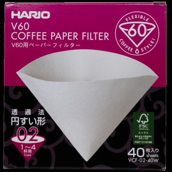 Filtres papier conique Hario pour V60 02